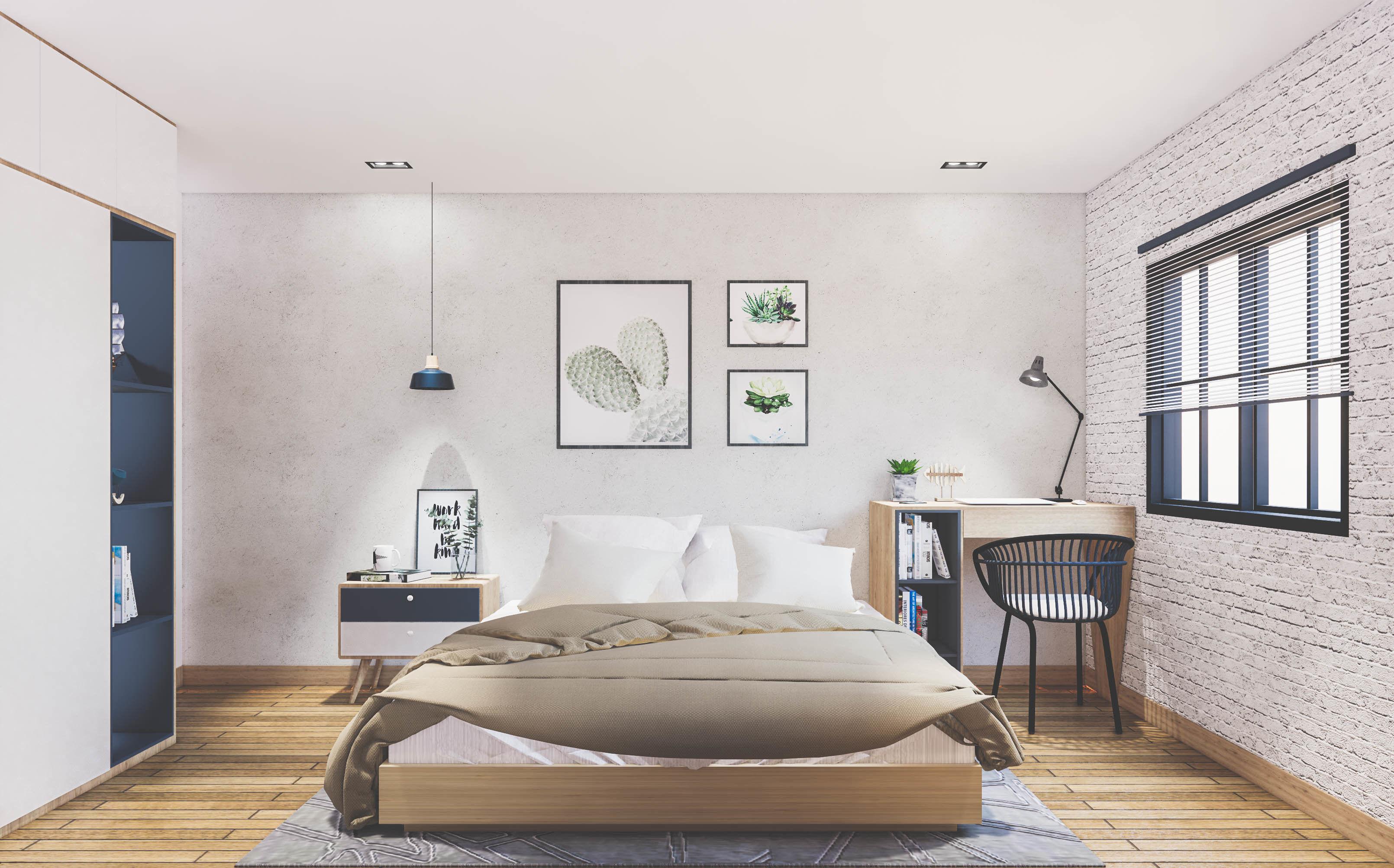 Small Modern Bedroom SketchUp Model Scene   CGTrader