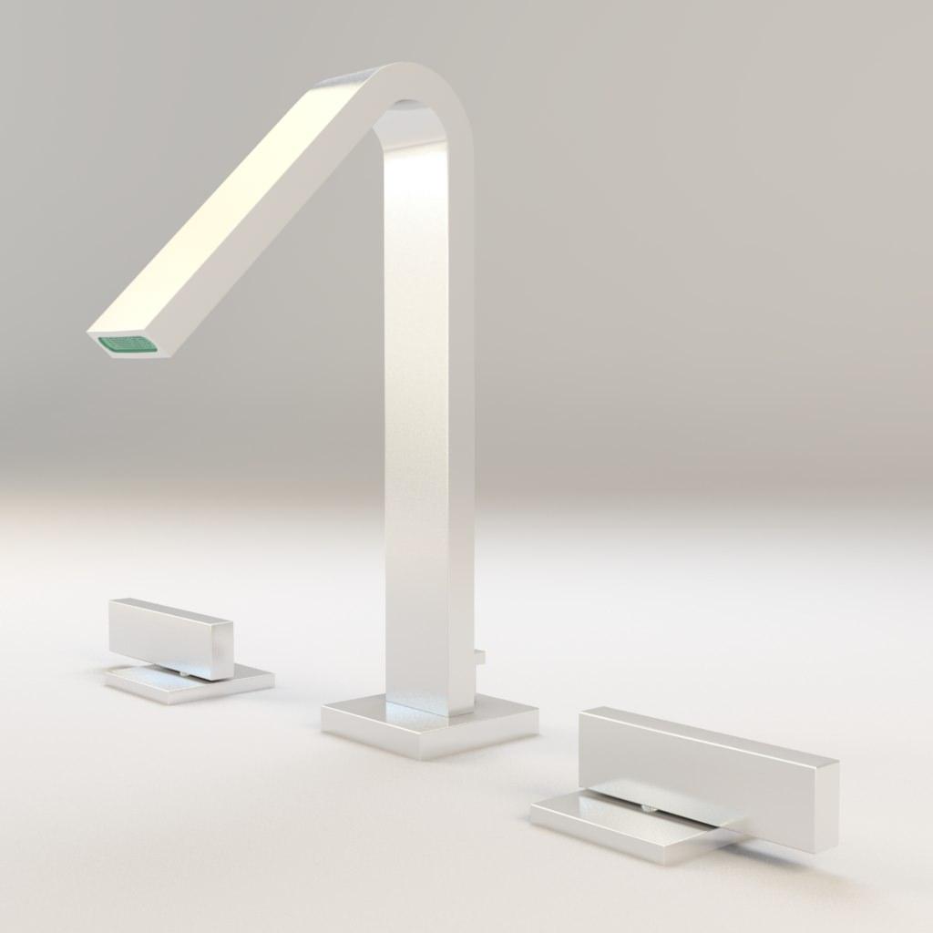 Kohler Loure Widespread Bathroom Sink Faucet 3D model MAX OBJ MTL