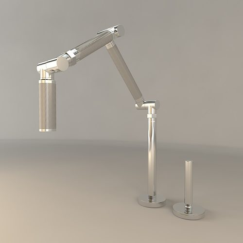 Kohler Karbon Kitchen Sink Faucet 3D Model MAX OBJ FBX CGTrader.com