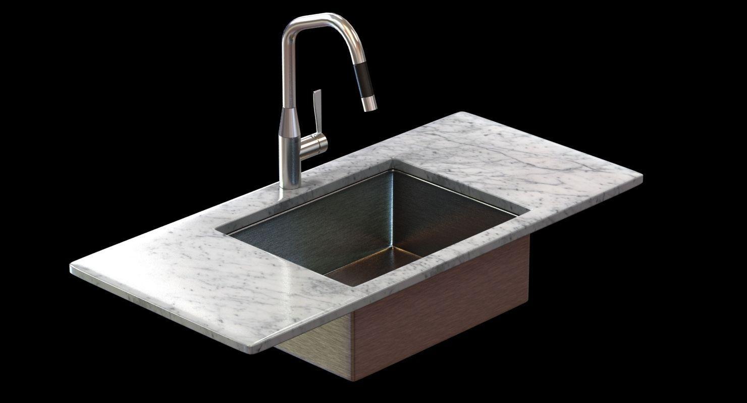 3d model kitchen faucet dornbracht sync cgtrader