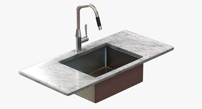 3D model Kitchen faucet Dornbracht SYNC | CGTrader