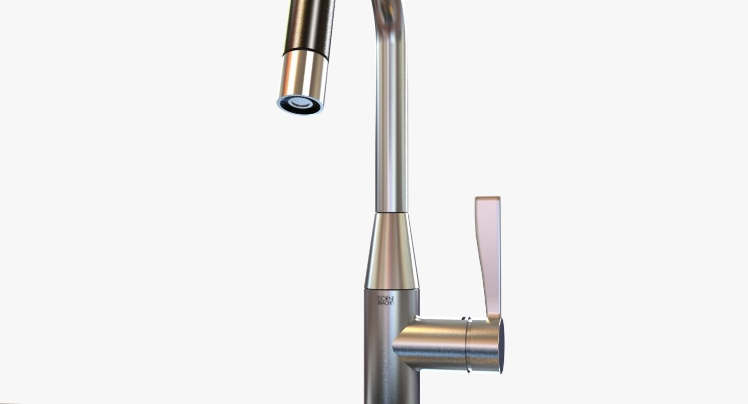 ... kitchen faucet dornbracht sync 3d model max obj 3ds fbx mtl 2 ... - 3D Model Kitchen Faucet Dornbracht SYNC CGTrader
