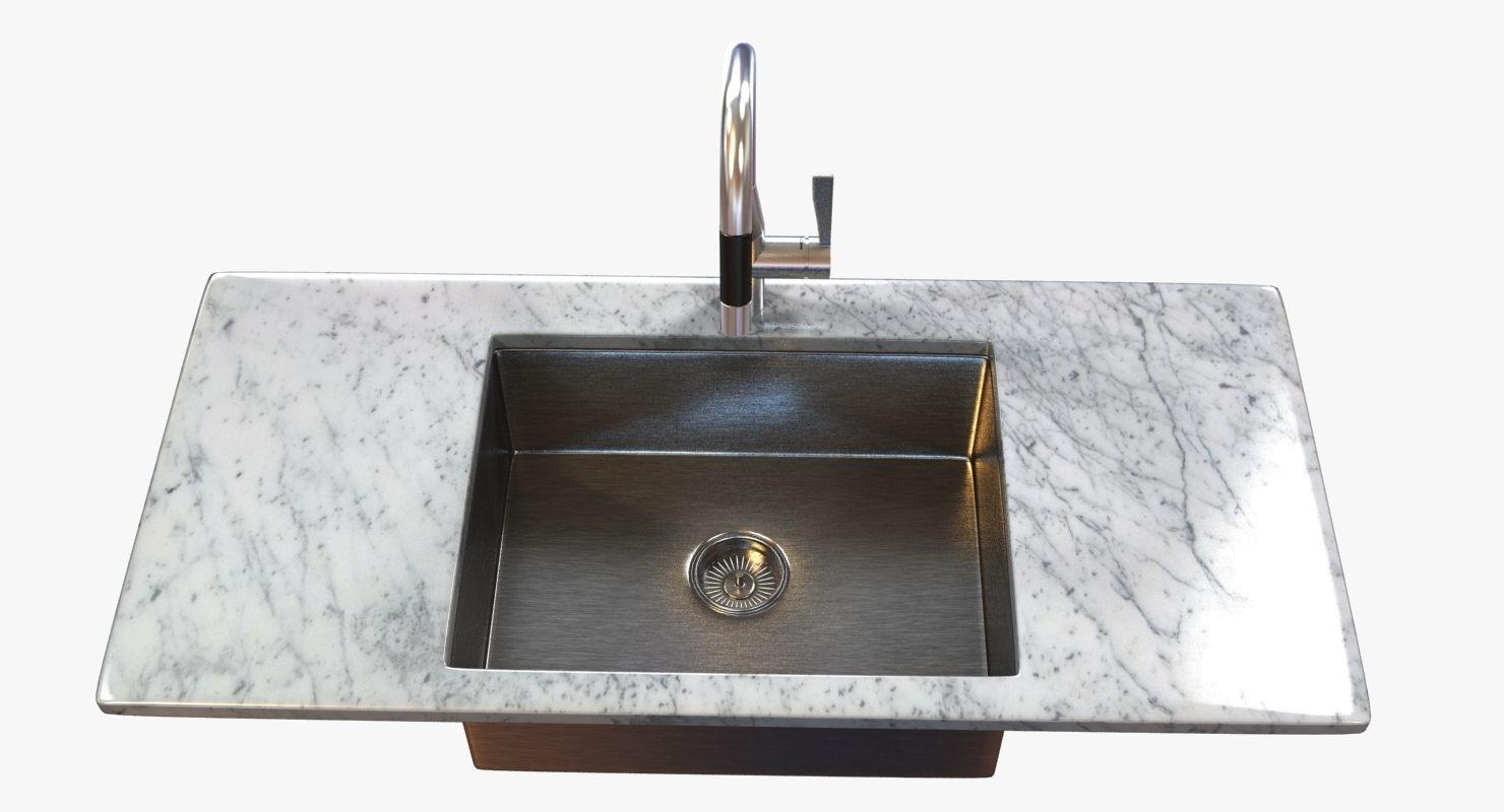 ... Kitchen Faucet Dornbracht Sync 3d Model Max Obj 3ds Fbx Mtl 4 ...