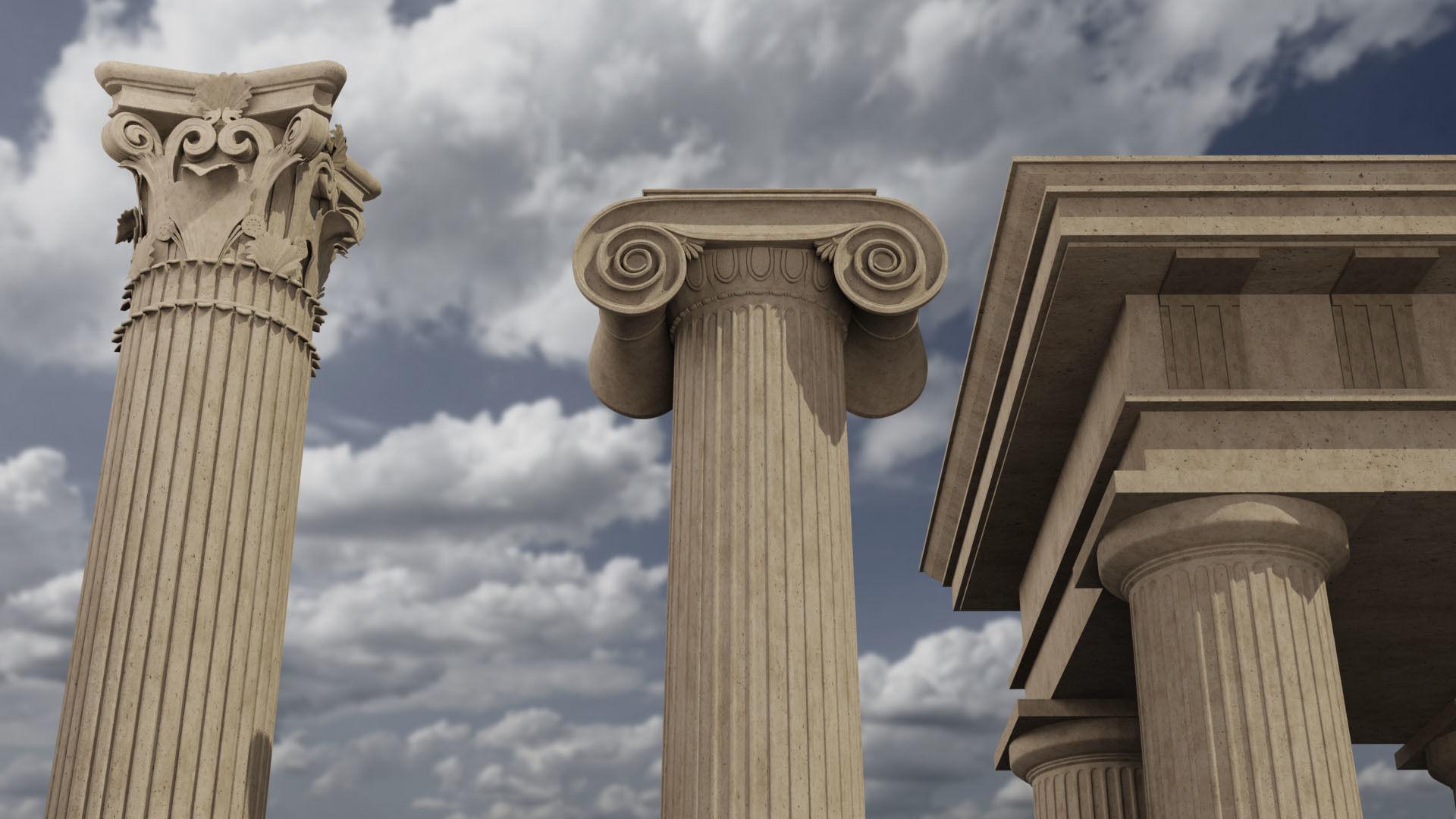 Classical column collection - Doric ionic corinthian