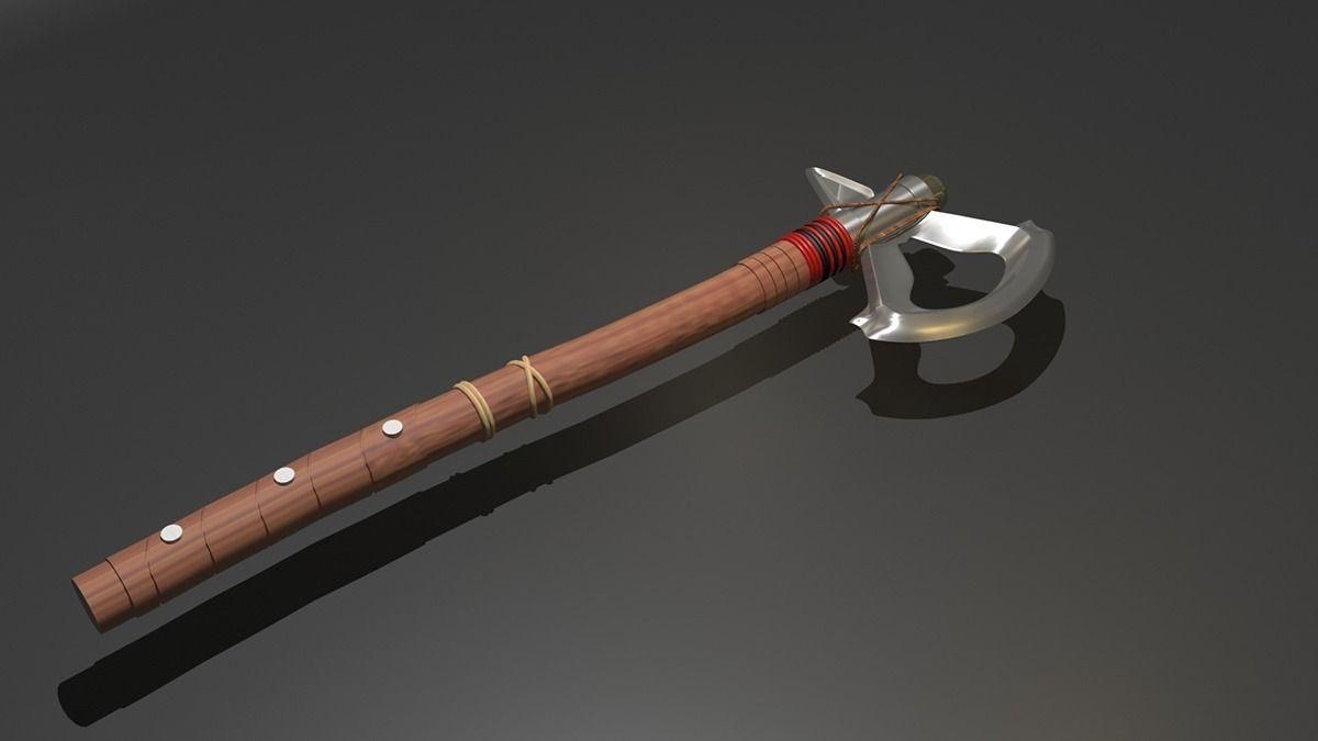 Tomahawk Assassins Creed 3d Cgtrader