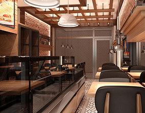 chair Restaurant Interior 002 3D model