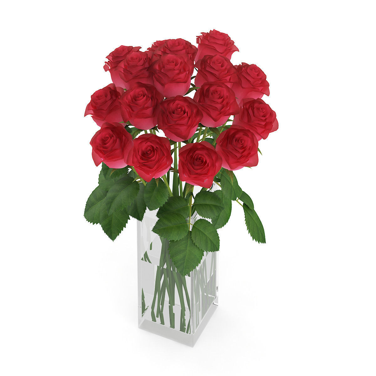 3d model red roses in glass vase cgtrader red roses in glass vase 3d model max obj fbx c4d mtl 5 reviewsmspy