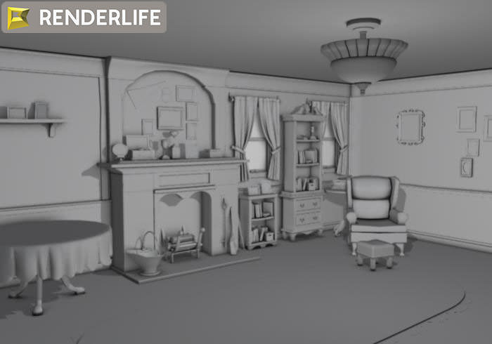 Living Room 3d Model old farmhouse living room 3d | cgtrader