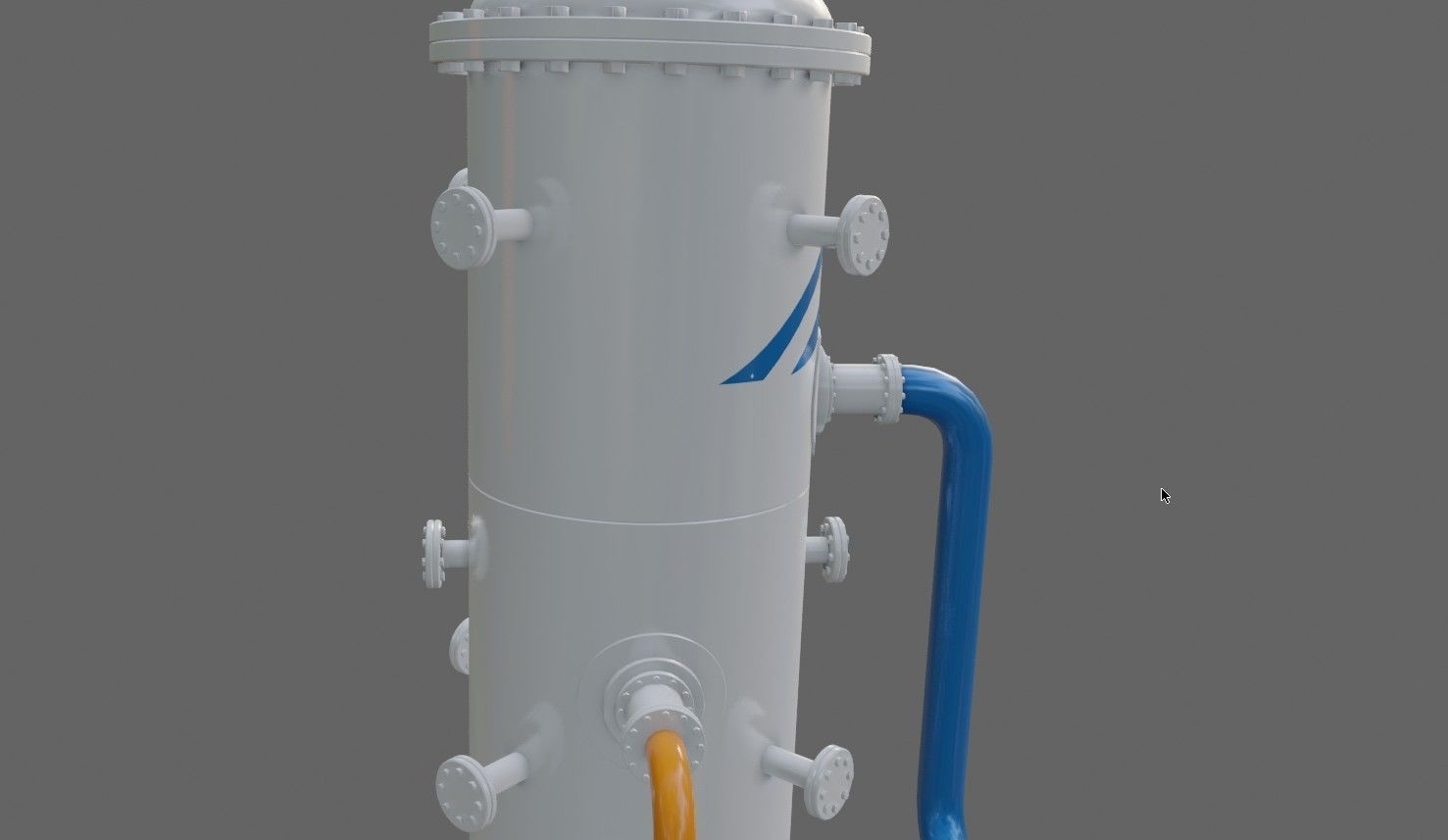 Absorber-separator of Oil refinery