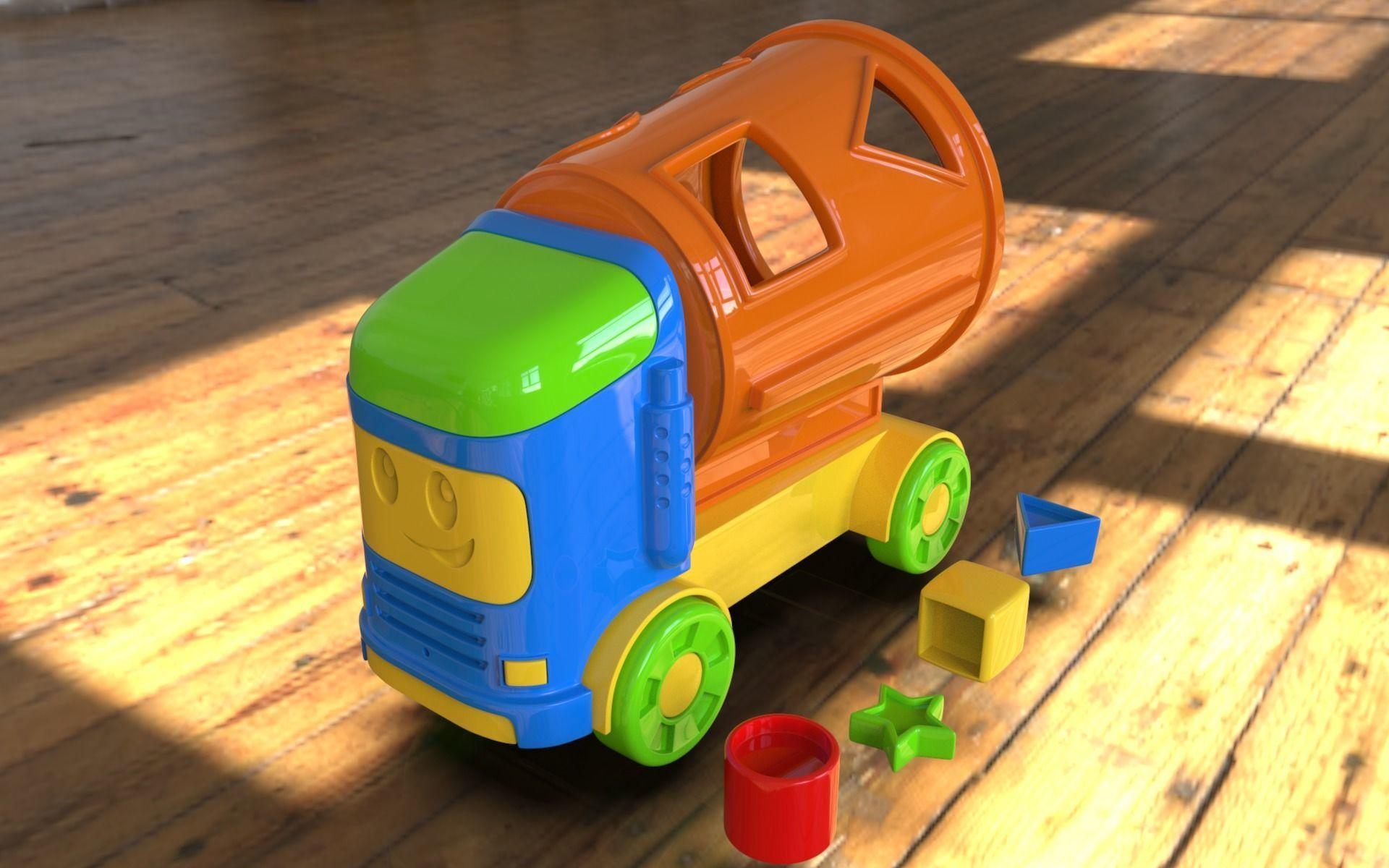 3D print Ready toy Mixer truck