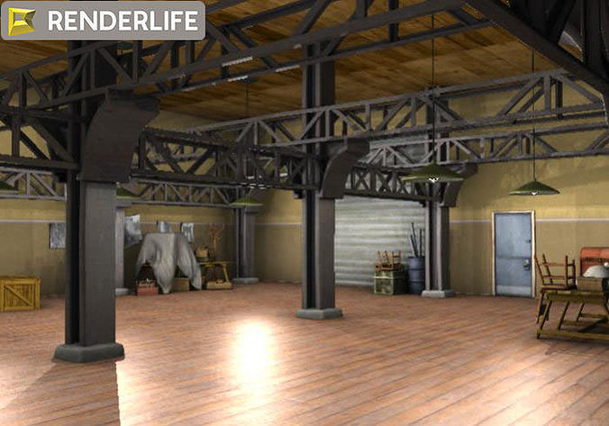 ... Warehouse Interior 3d Model Max Obj Fbx C4d Ma Mb Mtl 2 ...