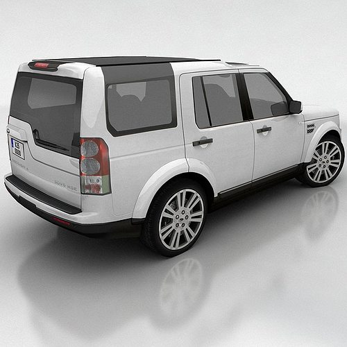 Land Rover Discovery 4 Lr4 2012 3d Model: 3D Model Land Rover Discovery 4 VR / AR / Low-poly MAX FBX