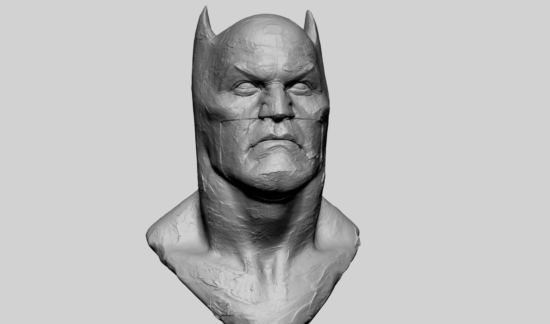 Batman Bust Clay
