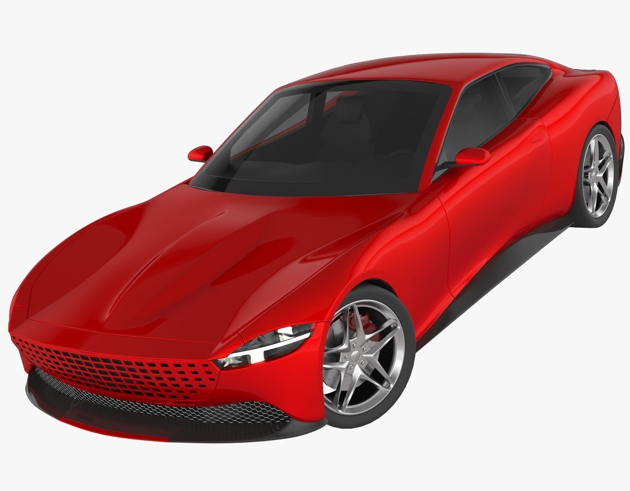 3d Model Ferrari Roma 2020 Mp1 Cgtrader