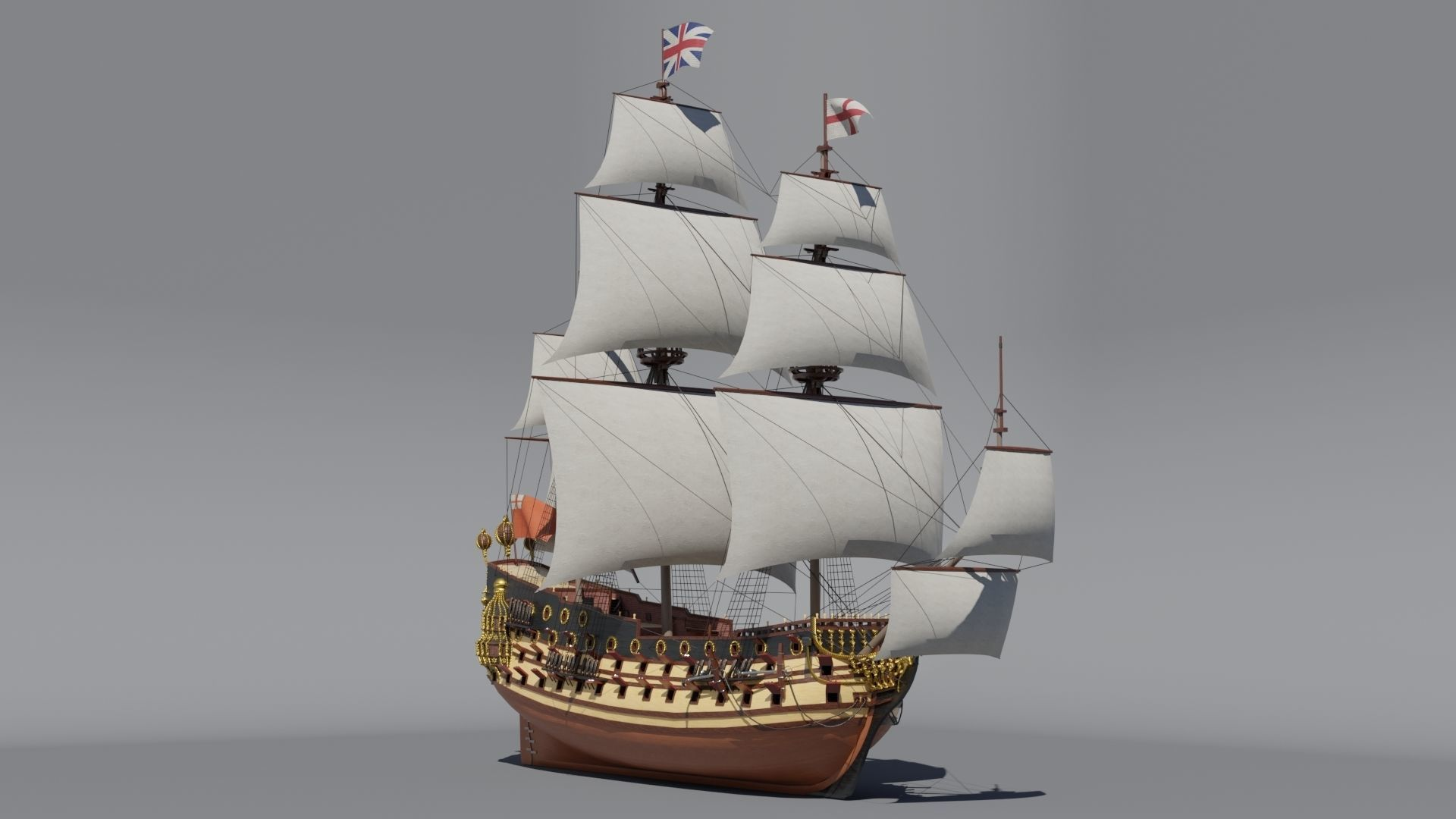 First rate ship of the line HMS Prince 1670