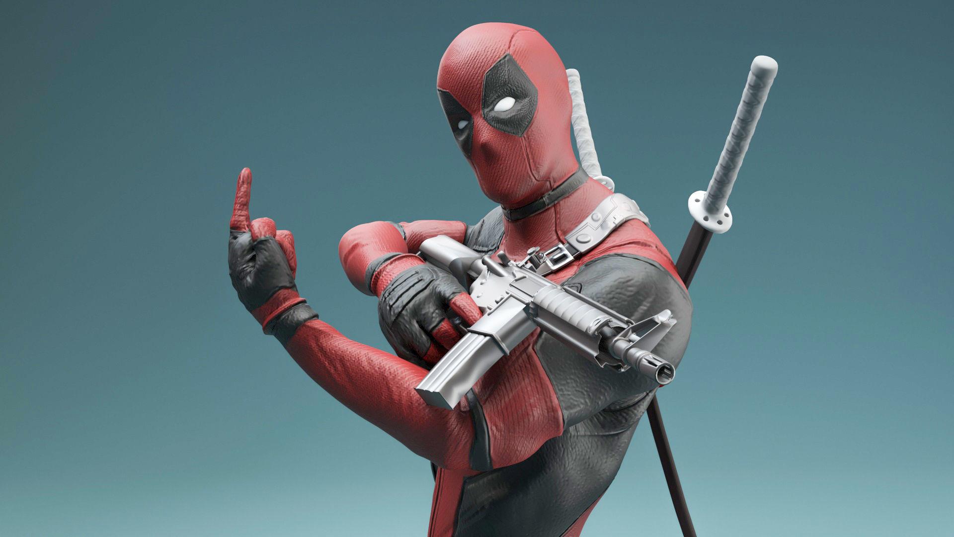 Hero Deadpool Statue 3d Print Model Cgtrader