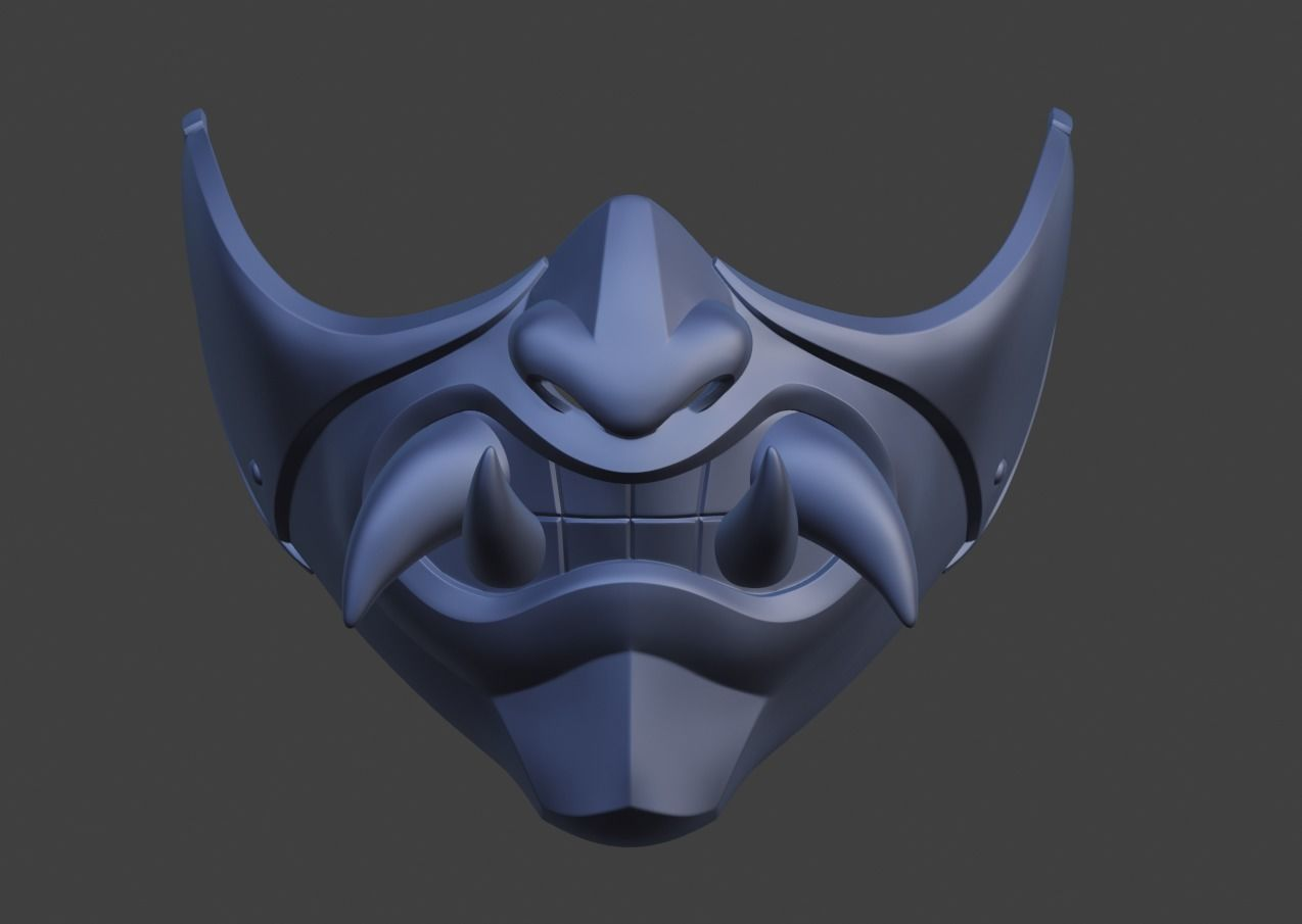 Princess Kitana Female Samurai Mask 3d Printable Model 3