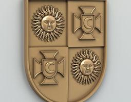 Coat of arms of Vinnitsa region Ukraine 3D