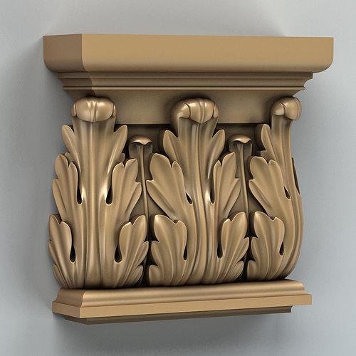 column capital 003 3d model max obj fbx stl 1