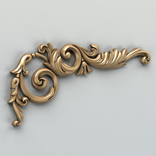 carved decor corner 004 3d model max obj fbx stl 1