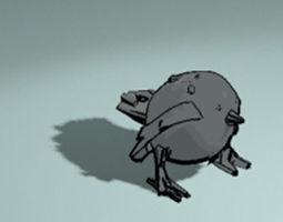 low-poly bird 3D print