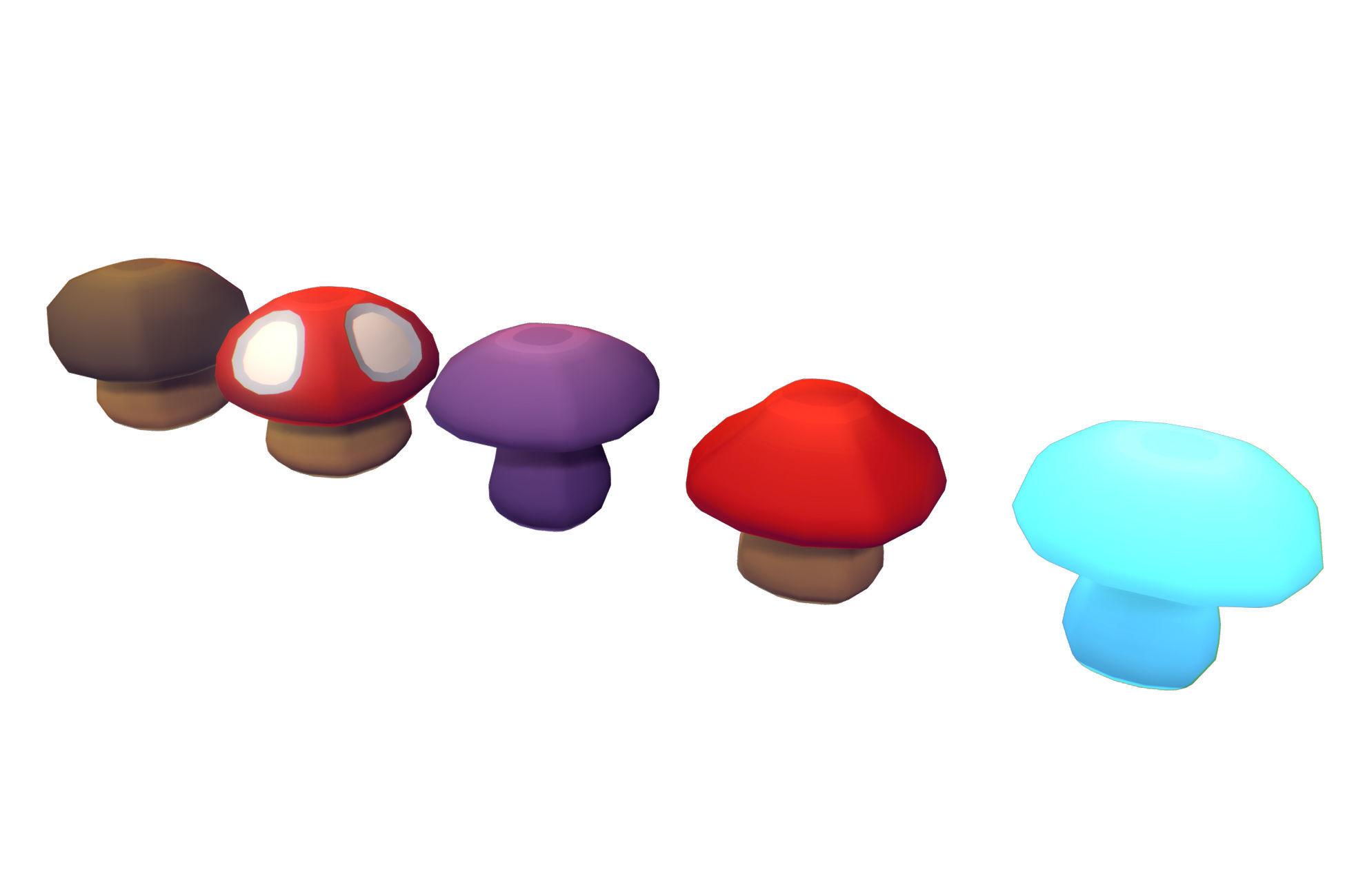 Cube World Mushrooms - Proto Series