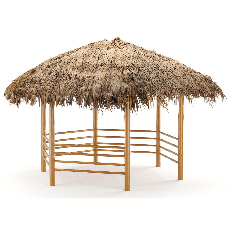 bamboo roof beach restaurant shelter gazebo