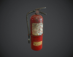 VR / AR ready 3d model fire extinguisher pbr