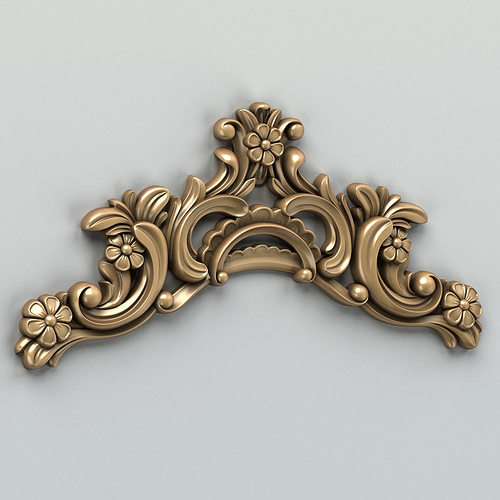 carved decor horizontal 004 3d model max obj fbx stl 1