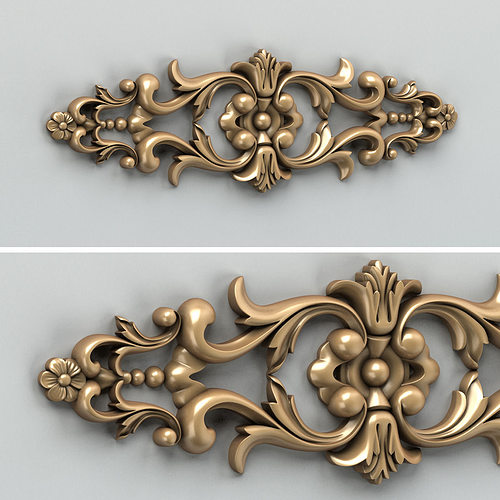 carved decor horizontal 005 3d model max obj mtl fbx stl 1