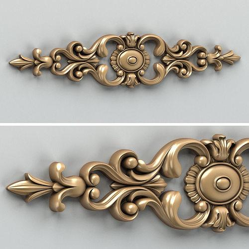 carved decor horizontal 006 3d model max obj mtl fbx stl 1