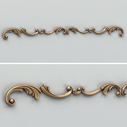 carved decor horizontal 009 3d model max obj fbx stl 1