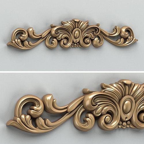 carved decor horizontal 010 3d model max obj mtl fbx stl 1