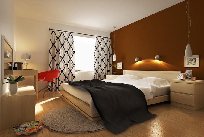 Small Bed Room 3d Model Max