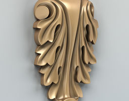 Carved decor vertical 006 3D model