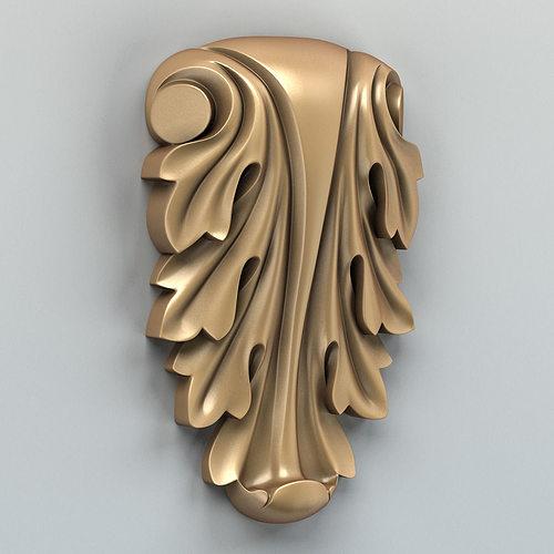 carved decor vertical 006 3d model max obj fbx stl 1