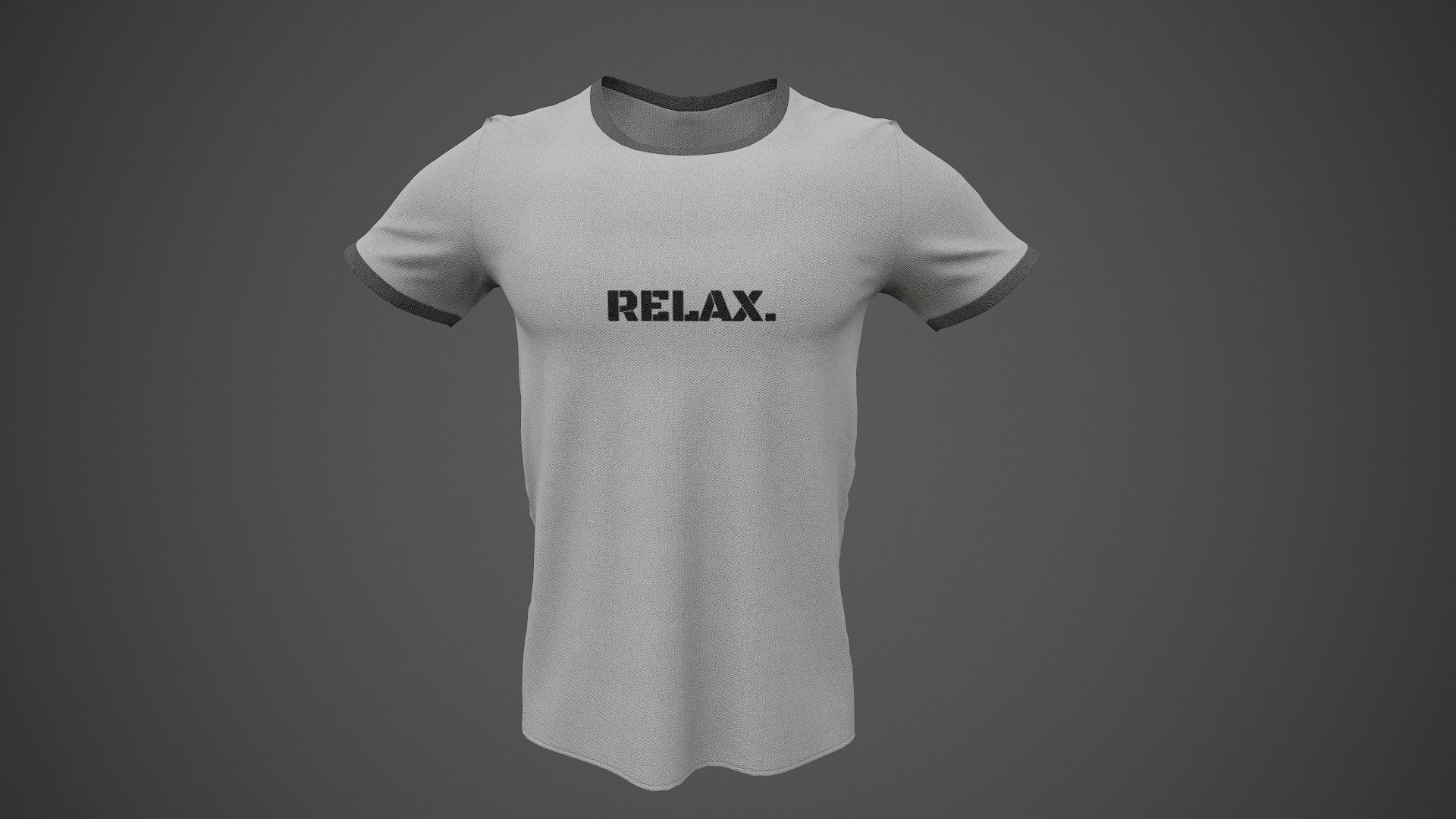 T-Shirt Male PBR Game-ready