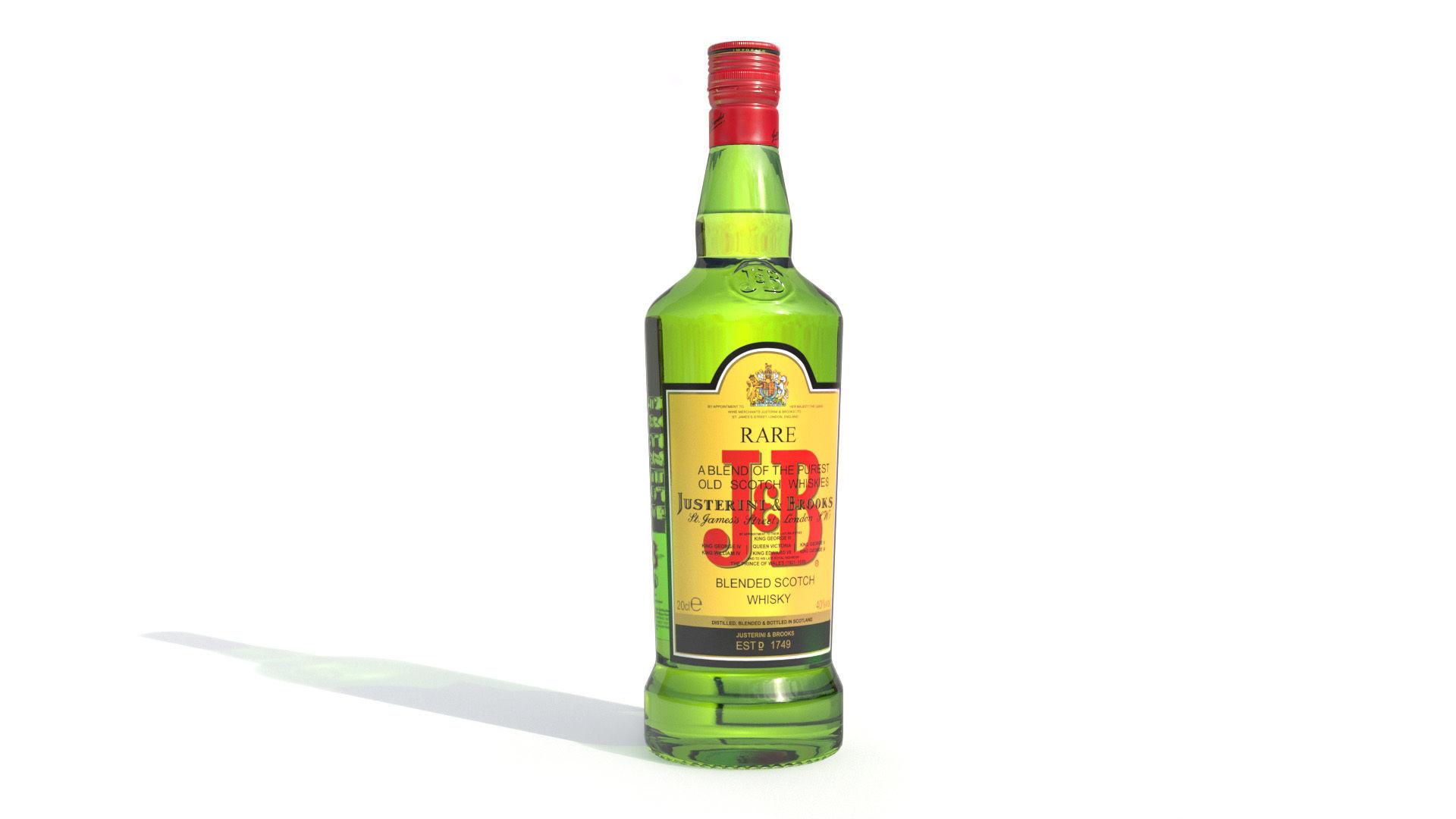 JB alcohol whiskey Bottle