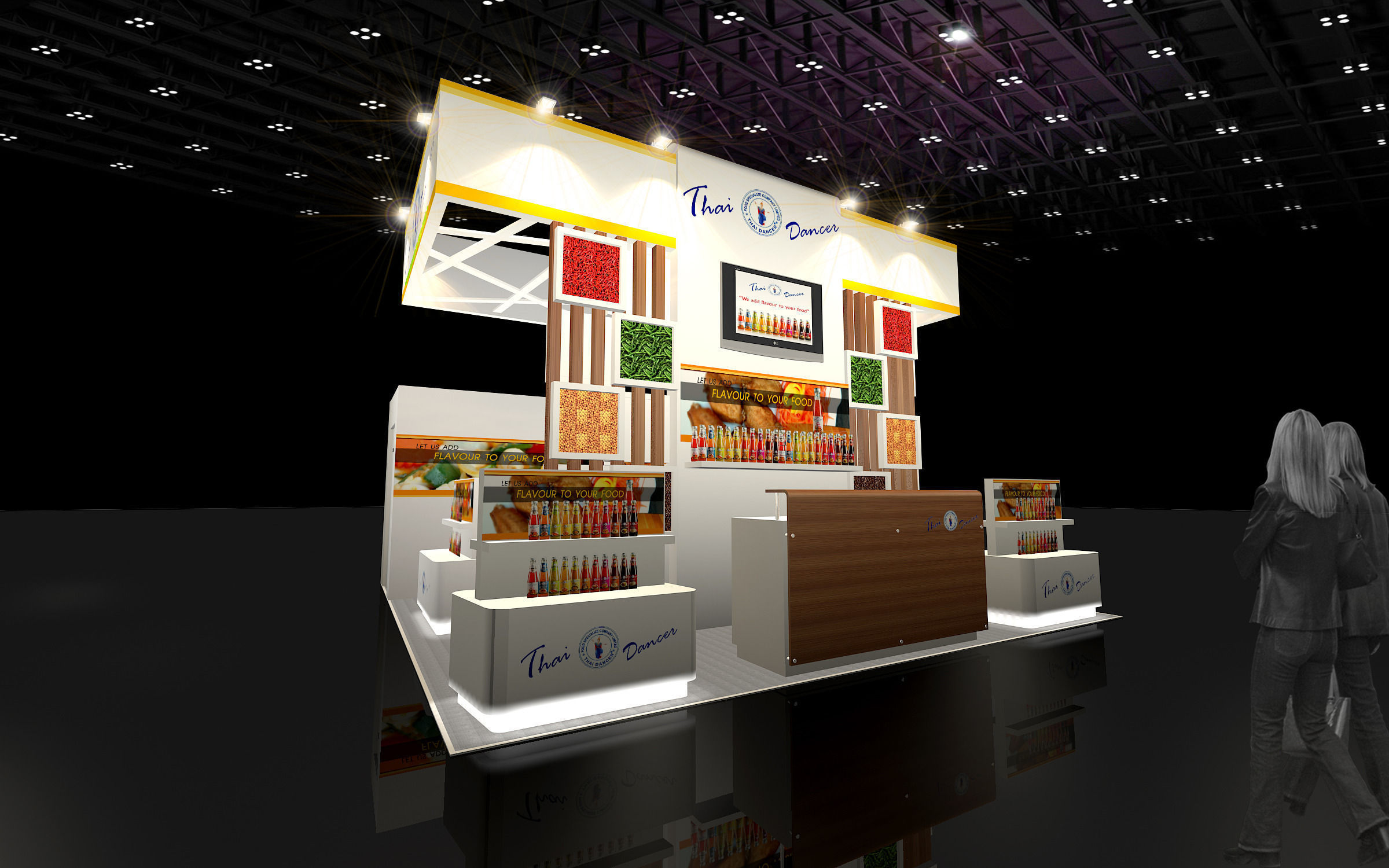 3d Design Booth Food Specialize 3d Model Max 3ds