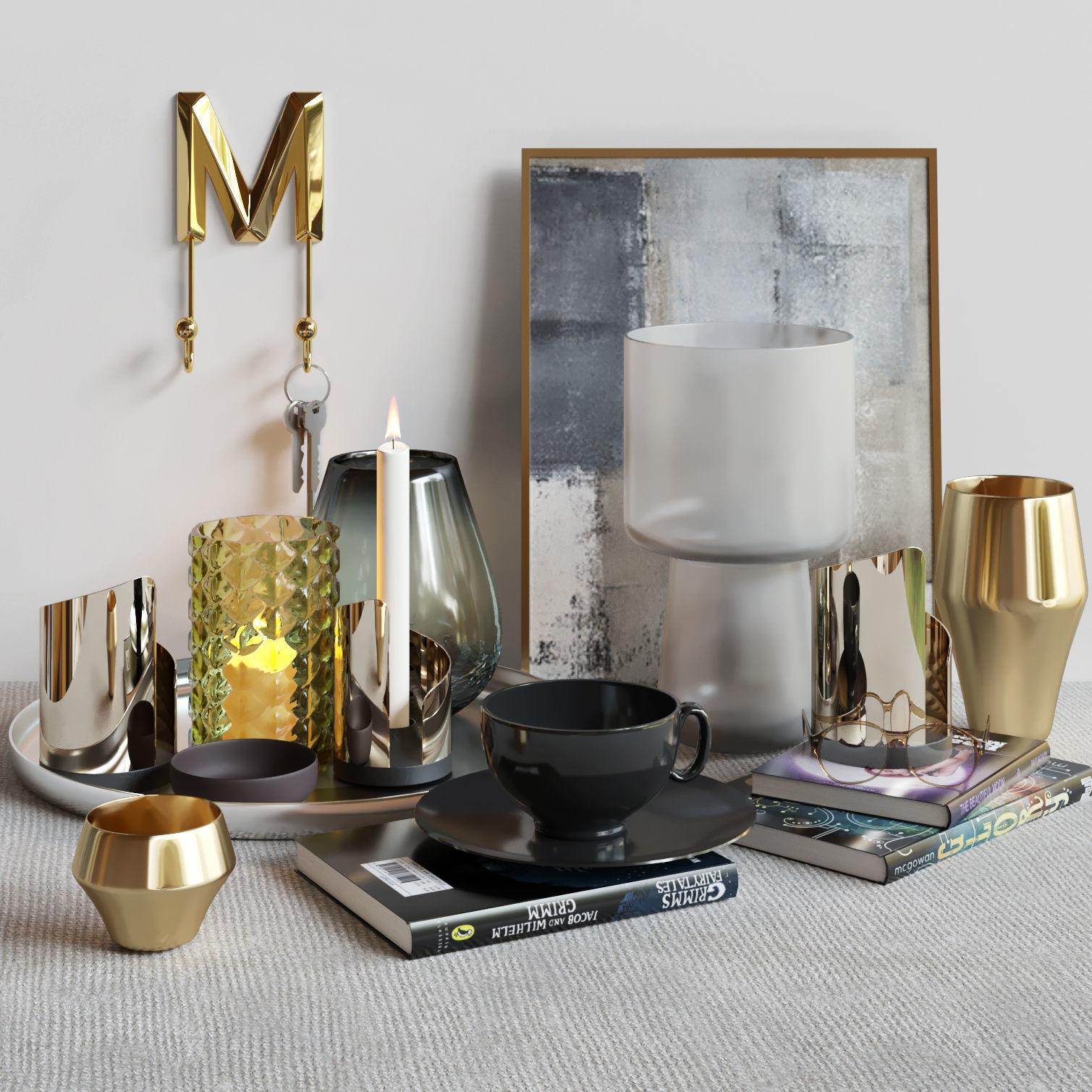 Decorative set for modern interior 2