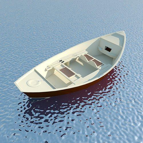 wooden boat max 2011 3d model max obj mtl 3ds fbx c4d ma mb 1