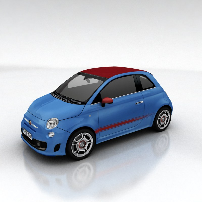 Fiat 500 1 2 Model From 2008 2015 Complete Alternator: 3D Model Fiat 500 Abarth VR / AR / Low-poly MAX FBX