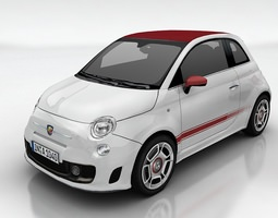Fiat 500 Abarth 3D model