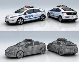 3D asset Chevrolet Volt POLICE