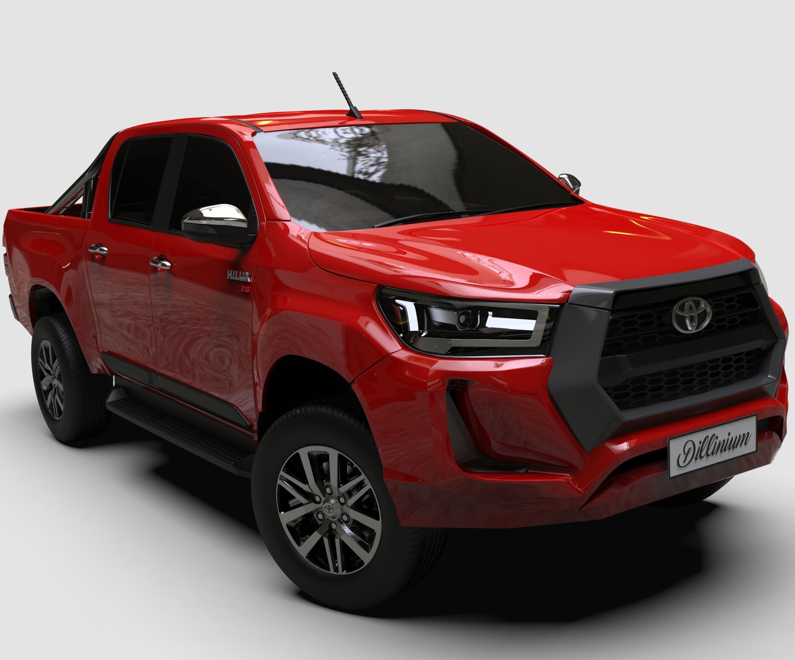 2021 toyota hilux double cab 3d model   cgtrader
