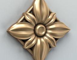 Square rosette 008 3D model