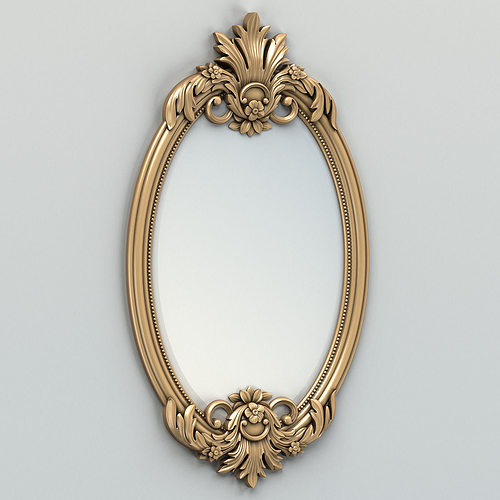 oval mirror frame 002 3d model - Mirror Frame