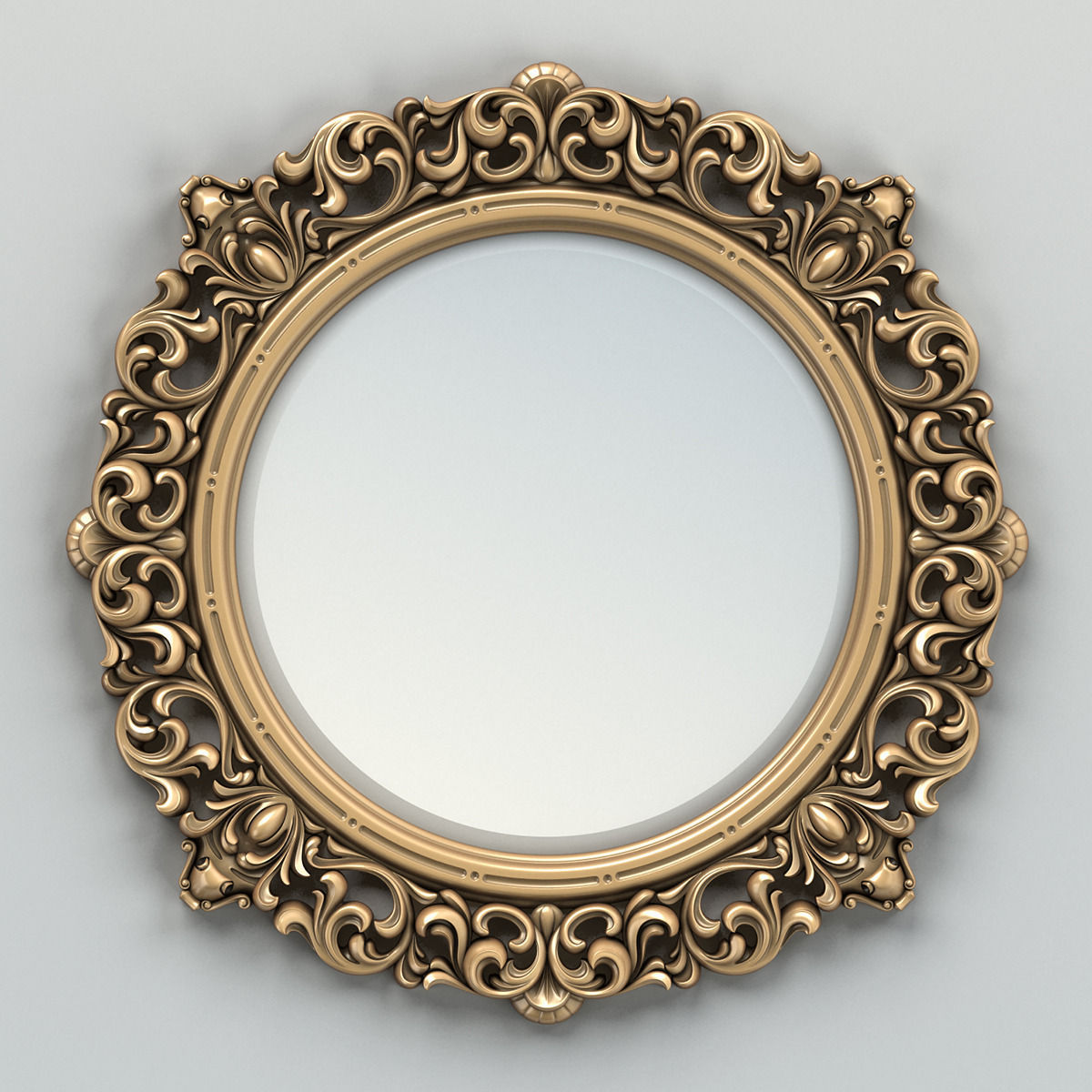 3D Round mirror frame 001 classic | CGTrader