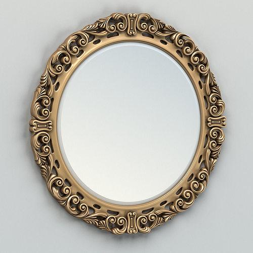 round mirror frame 002 3d model max obj mtl fbx stl 1
