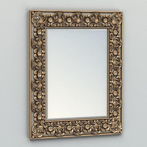 rectangle mirror frame 002 3d model max obj mtl fbx stl 1